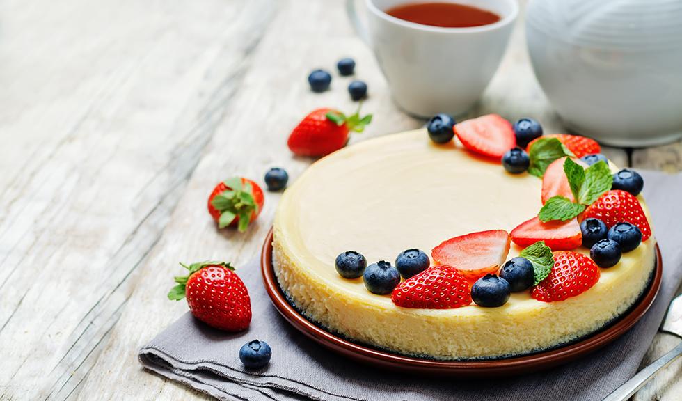 Cheesecake cu fructe proaspete