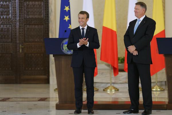 Vizita lui Emmanuel Macron in Romania in imagini