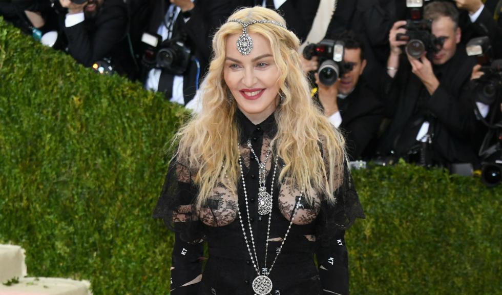 Imagine de colectie cu Madonna si cei 6 copii ai sai