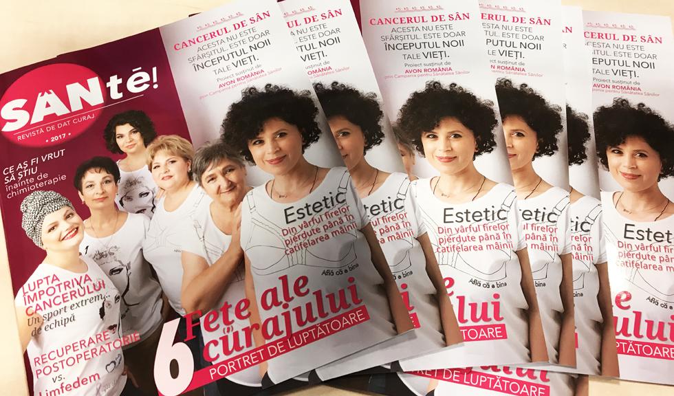 """""""Revista de dat curaj"""" celor cu cancer de san"""
