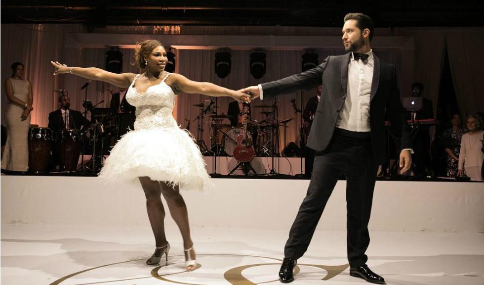 Serena Williams, noi imagini de la nunta ei ca in povesti