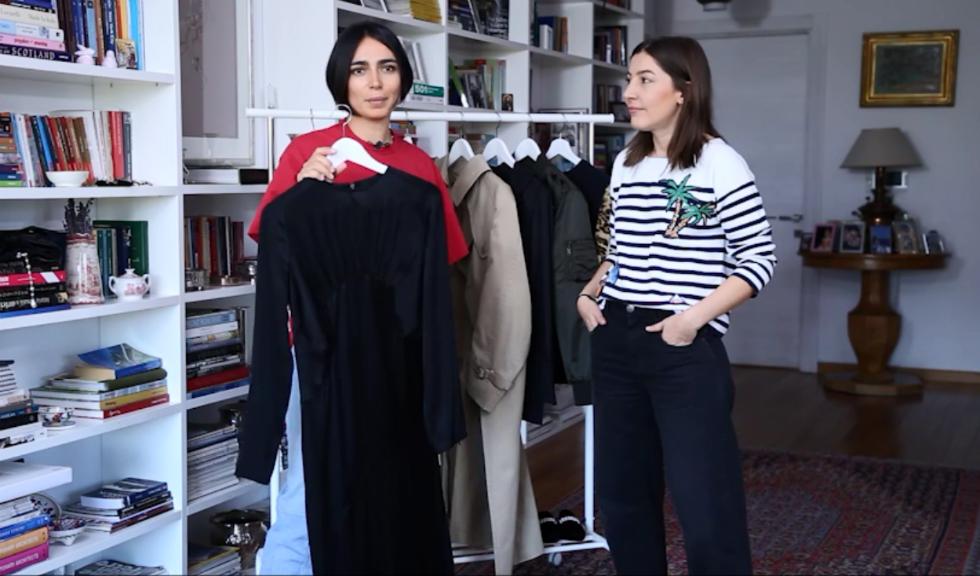 #ELLETeam: Cum sa porti rochia lunga neagra, in 2 stiluri diferite, cu Domnica Margescu si Cristina Craciun (VIDEO)