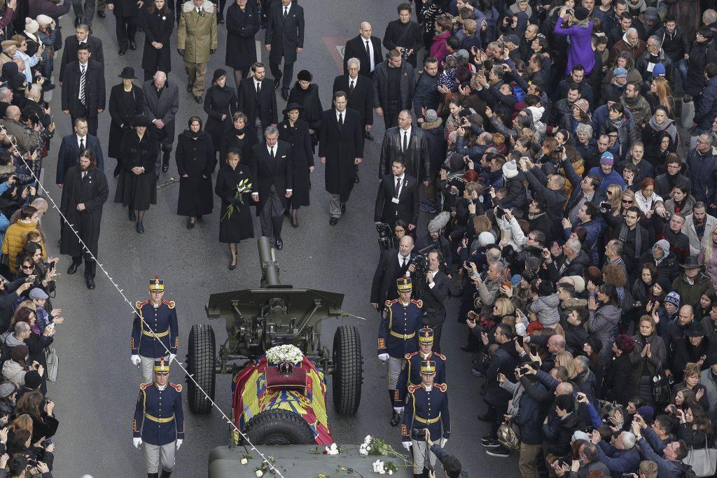 Imagini impresionante de la funeraliile Regelui Mihai I