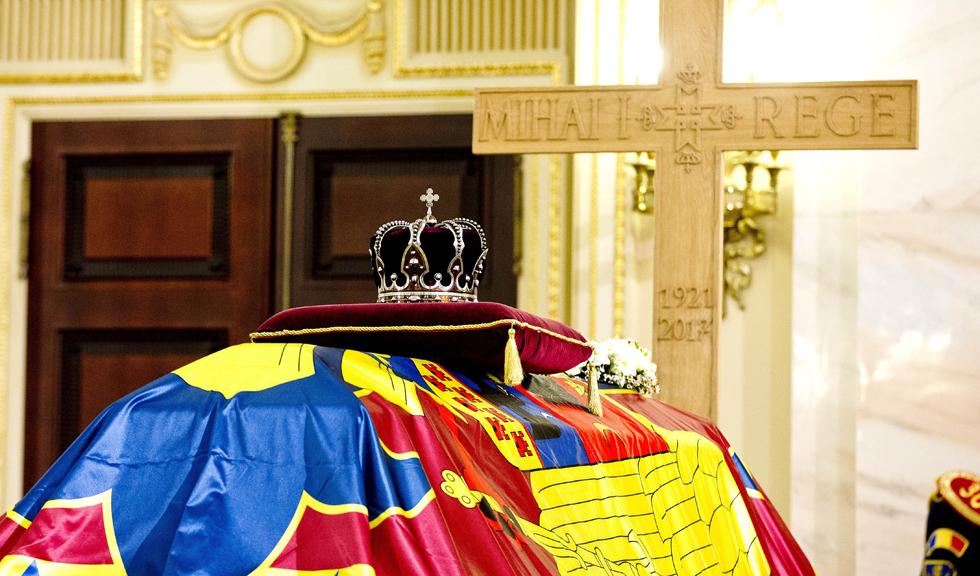Imagine emoționantă la catafalcul Regelui Mihai I al României