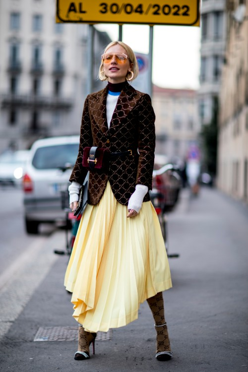 Cele mai cool ținute de street style, din prima zi de la Milan Fashion Week