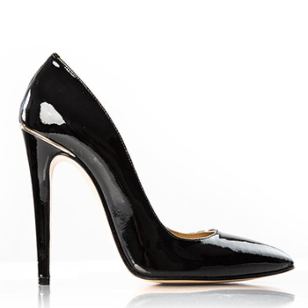 Pantofi stiletto negri dama