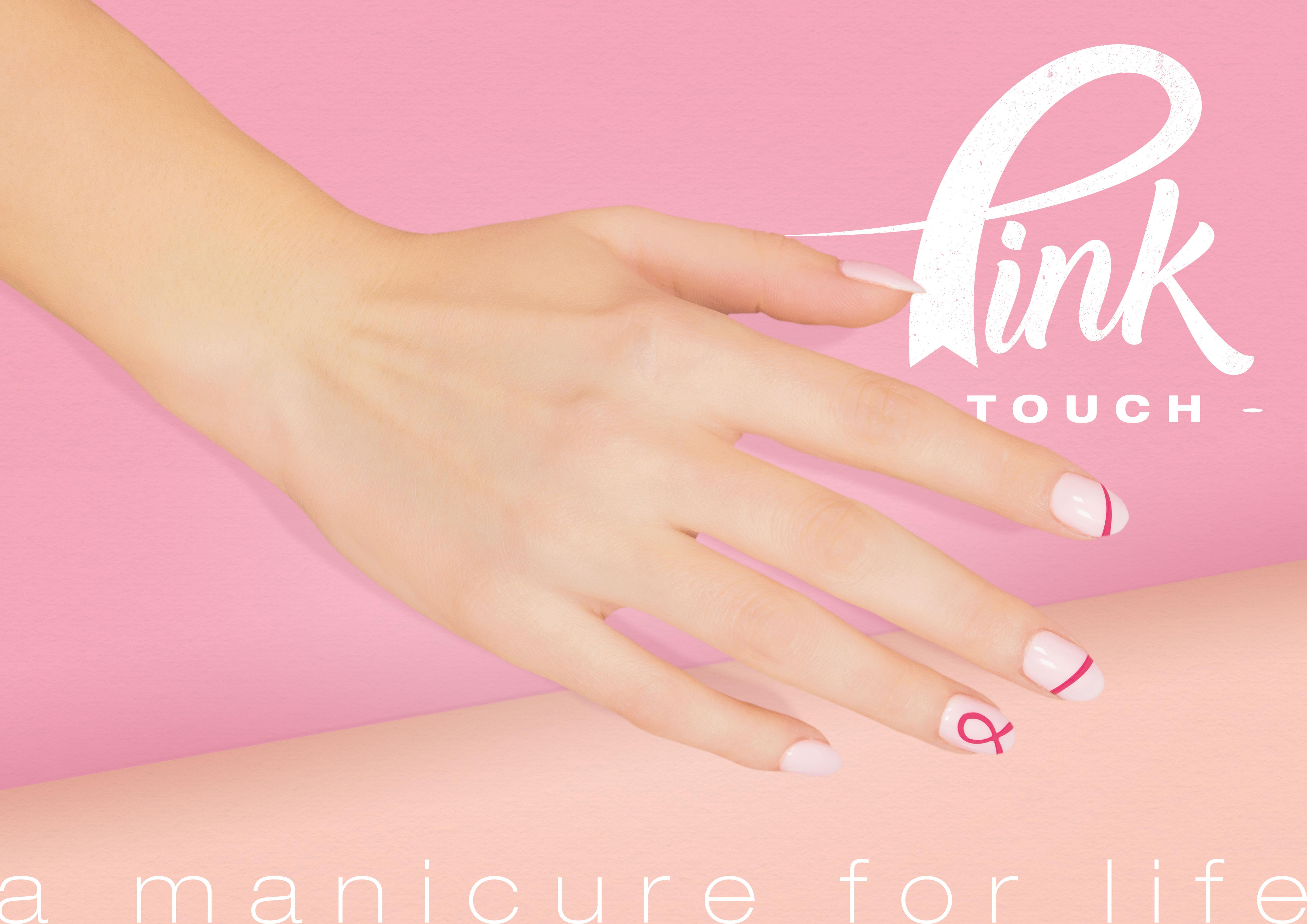 Manichiura Pink Touch sau manichiura care îți amintește de controlul sânilor