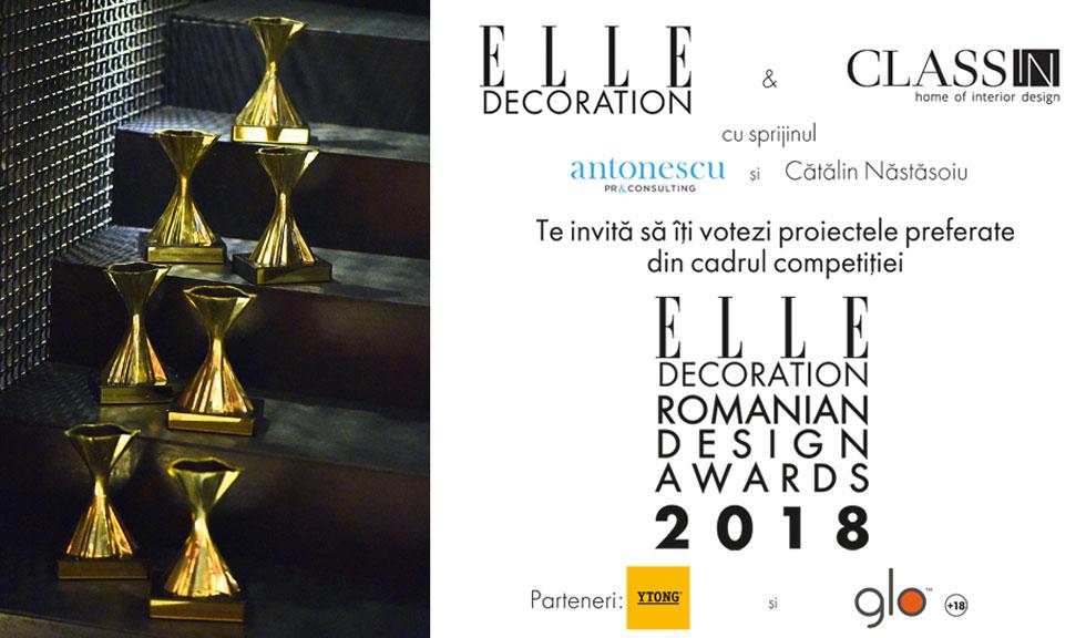 Elle Decoration Romanian Design Awards: susțineți designerii români și acasă!