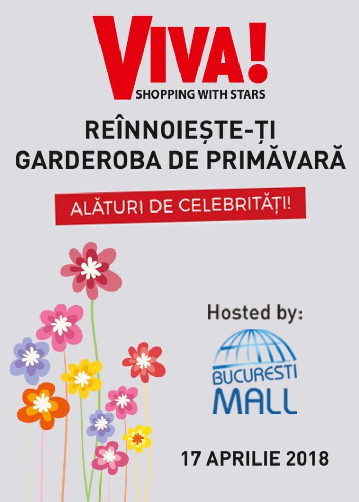 Revista VIVA! și București Mall te invită la o seară de răsfăț, alături de vedetele tale preferate
