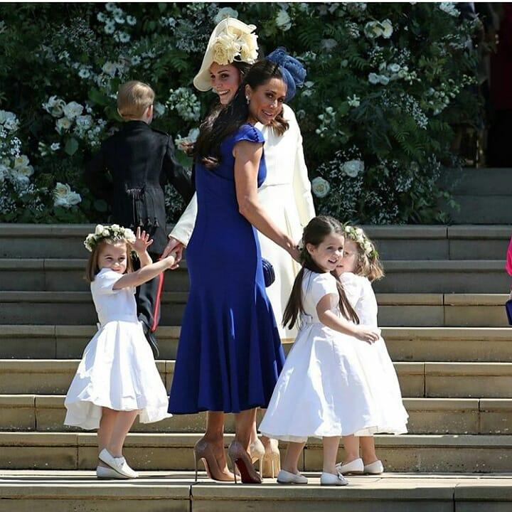 Kate Middleton a sosit la ceremonie alături de Prințul George și Prințesa Charlotte, iar imaginile sunt adorabile