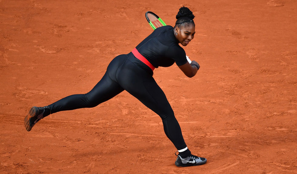 Serena Williams în catsuit