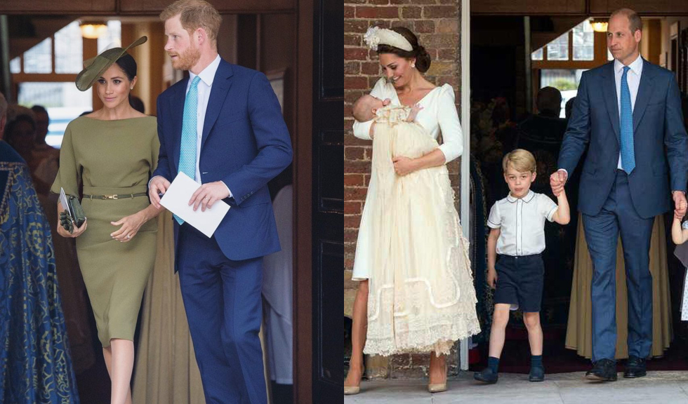 Ce ținute au purtat Kate Middleton și Meghan Markle la botezul Prințului Louis