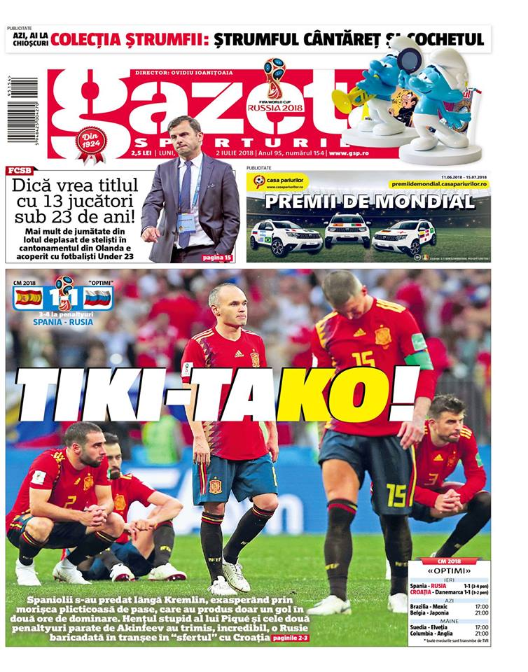 RINGIER SPORTAL S.R.L. a achizitionat Gazeta Sporturilor, marca numarul unu in jurnalismul sportiv din Romania