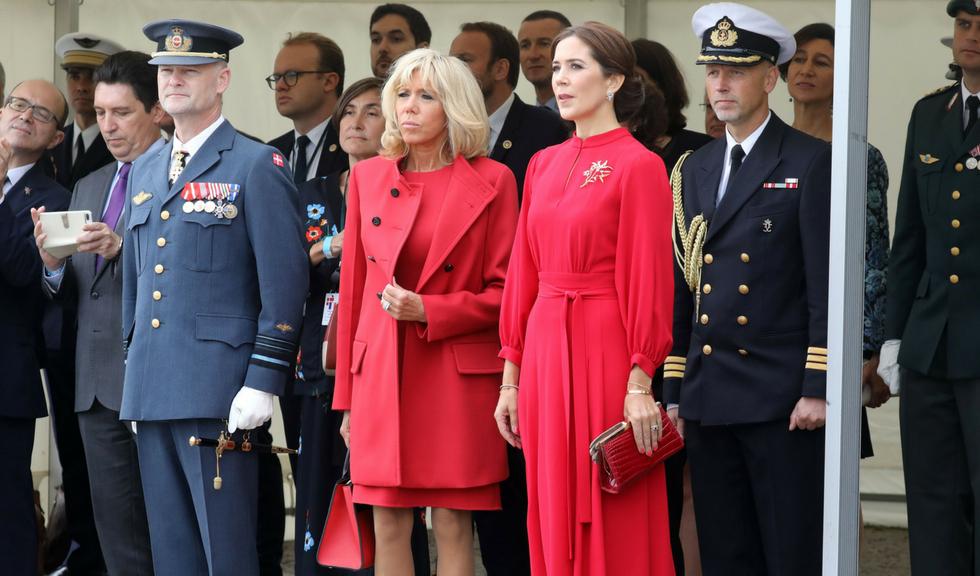 Brigitte Macron și Prințesa Mary a Danemarcei și-au asortat ținutele roșii la Copenhaga
