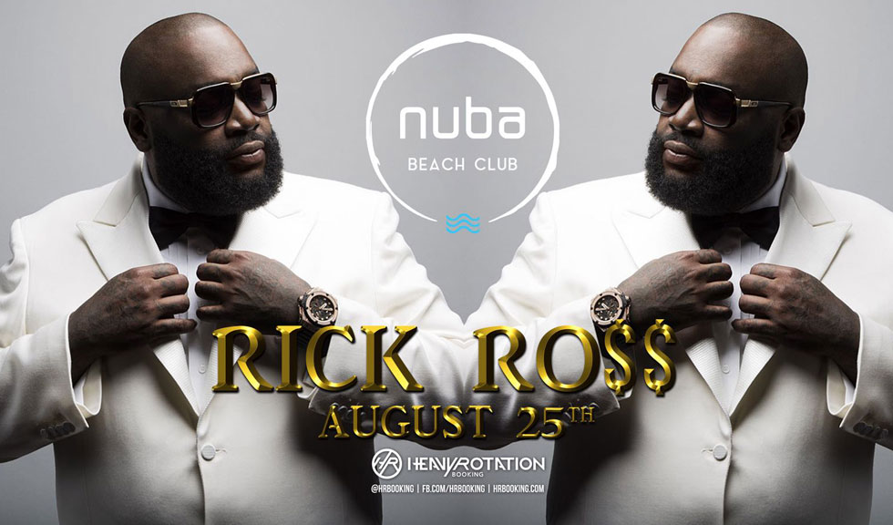 (P) Rick Ross vine cu Lamborghini-ul direct pe scena NUBA Beach Club