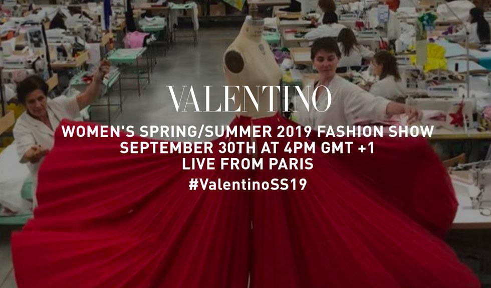 Urmărește LIVE prezentarea colecției VALENTINO primăvară-vară 2019!