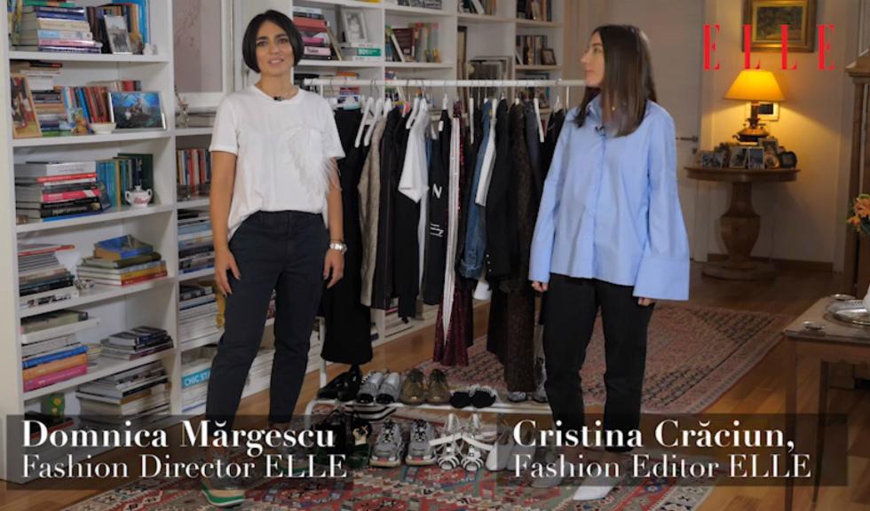 #ELLETeam: Cum să porți pantalonii din paiete, cu Domnica Mărgescu și Cristina Crăciun (VIDEO)