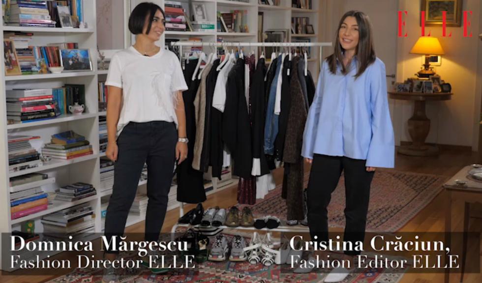 #ELLETeam: Cum să porți sacoul din bumbac cu pliseuri, cu Domnica Mărgescu și Cristina Crăciun (VIDEO)