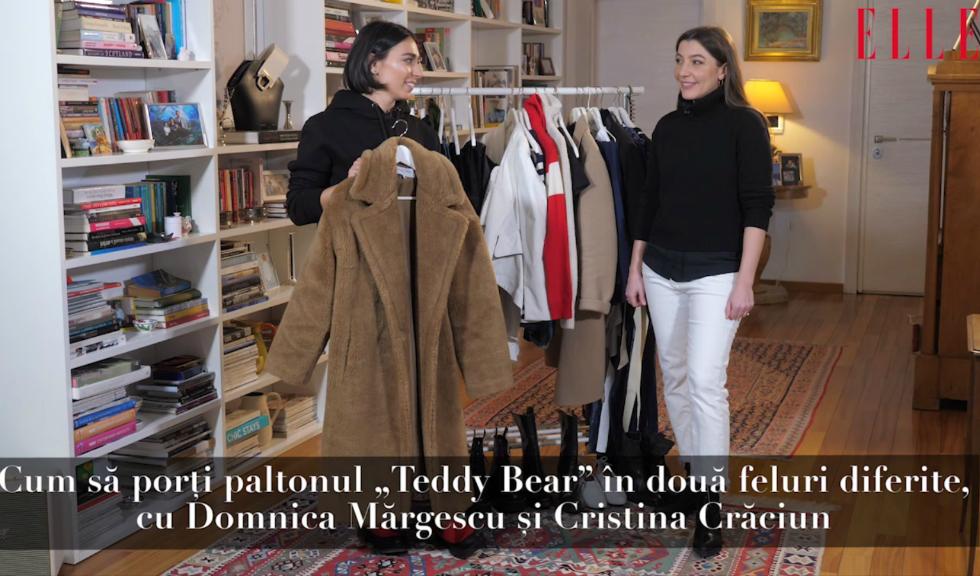 """#ELLETeam: Cum să porți paltonul """"Teddy Bear"""", cu Domnica Mărgescu și Cristina Crăciun (VIDEO)"""