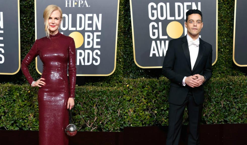 Nicole Kidman îi ignoră încercarea lui Rami Malek de a o îmbrățișa pe scena de la Globurile de Aur