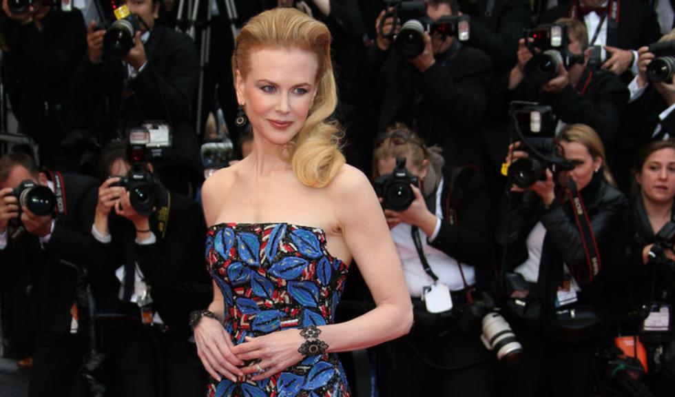 Nicole Kidman, alături de cele două fiice ale sale pe platourile de filmare