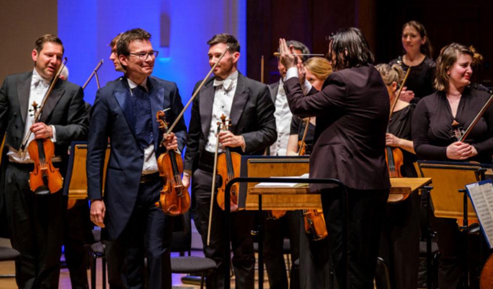 Alexandru Tomescu la Winchester Cathedral, alături de Royal Philharmonic Orchestra