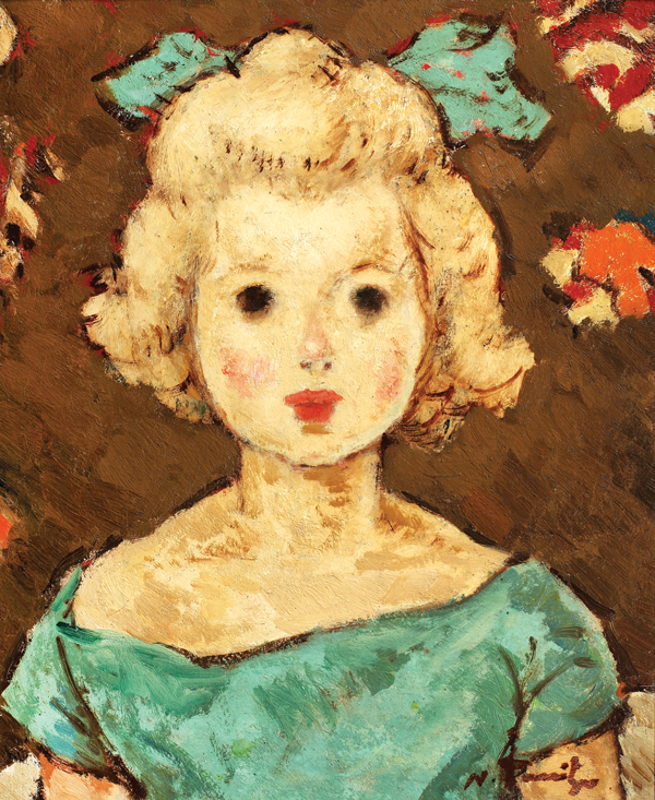 Copil cu fundă verde 1924-1925, N.Tonitza