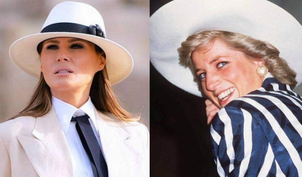 Melania Trump s-a inspirat din stilul Prințesei Diana pentru ținuta purtată la întâlnirea cu familia regală