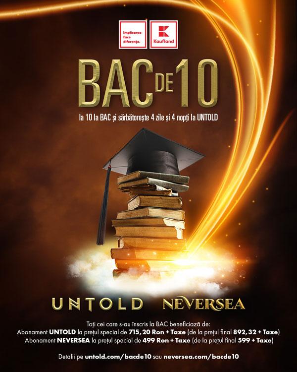 Cine ia 10 la BAC intră gratuit la Untold