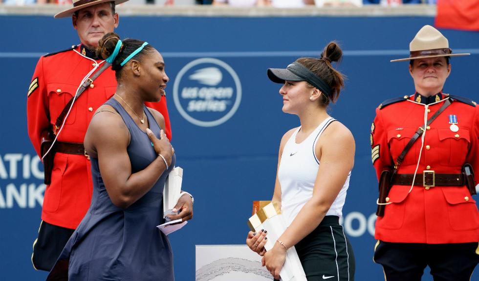 Cum a consolat-o Bianca Andreescu pe Serena Williams după ce aceasta s-a retras din finala Rogers Cup 2019