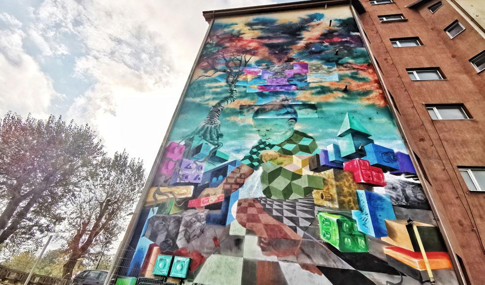 România are, la Bacău, prima pictură murală care purifică aerul