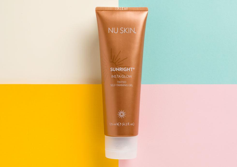 (P) Bucură-te de un bronz sănătos pe tot parcursul anului cu gelul autobronzant Nu Skin Sunright Insta Glow