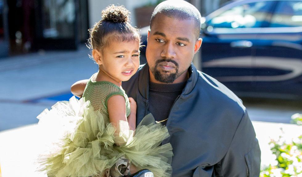 Kanye West i-a interzis fiicei sale, North West, să mai poarte machiaj