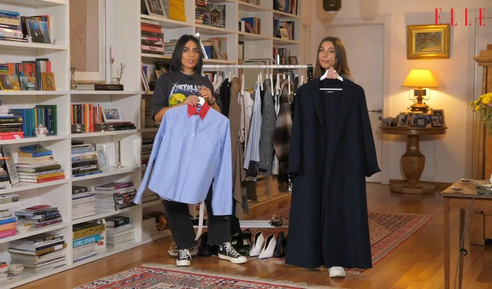 #ELLETeam: Cum să porți paltonul lung în două feluri diferite, cu Domnica Mărgescu și Cristina Crăciun (VIDEO)