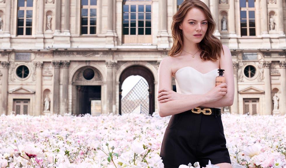 Emma Stone, star în campania noului parfum Louis Vuitton