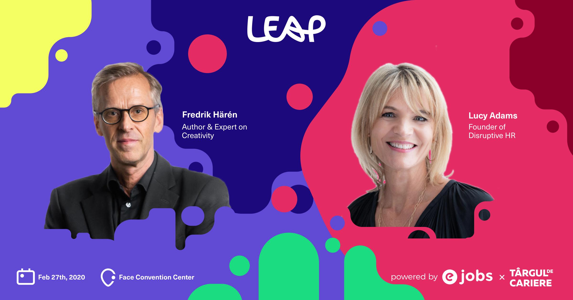eJobs organizează prima conferință internațională dedicată specialiștilor în resurse umane și people management și îi aduce în România pe Lucy Adams, fostul HR Manager al BBC, și Fredrik Härén, unul dintre cei mai cunoscuți public speakeri din lume