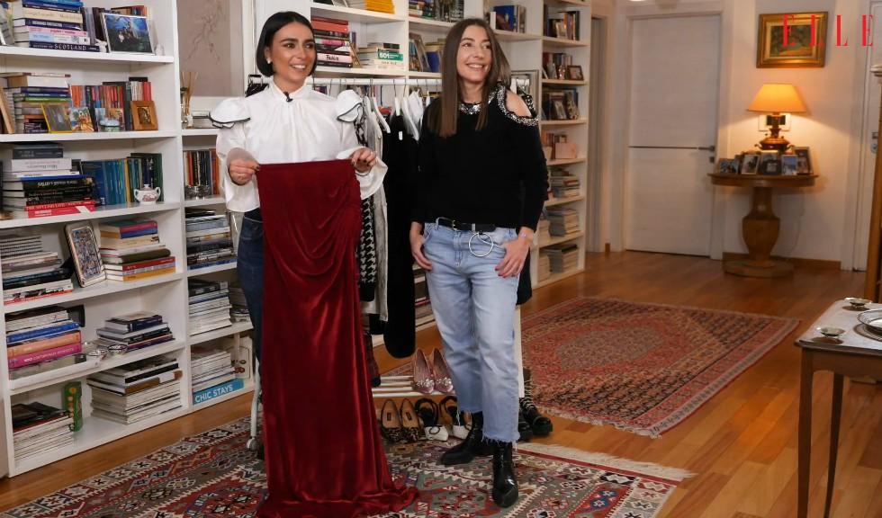 #ELLETeam: Cum porți fusta lungă din catifea în două feluri diferite (VIDEO)