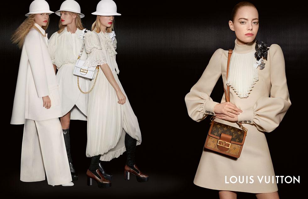 Emma Stone în noua campanie Louis Vuitton