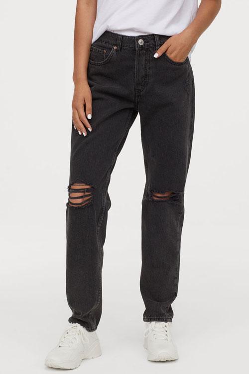 TOP 10 cei mai cool pantaloni negri din denim, sub 200 de lei