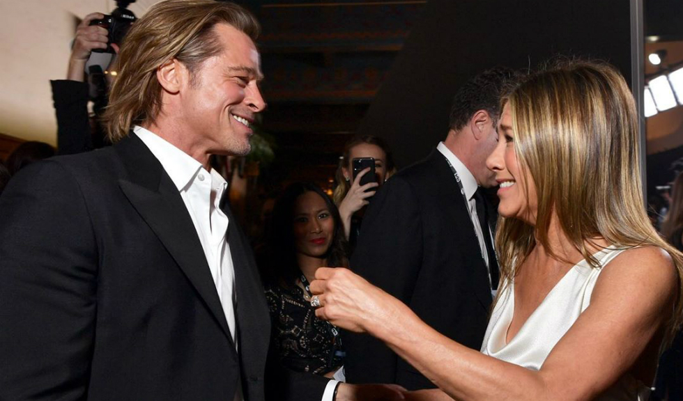 Jennifer Aniston și Brad Pitt au avut o scurtă reuniune la un after party de la Premiile Oscar