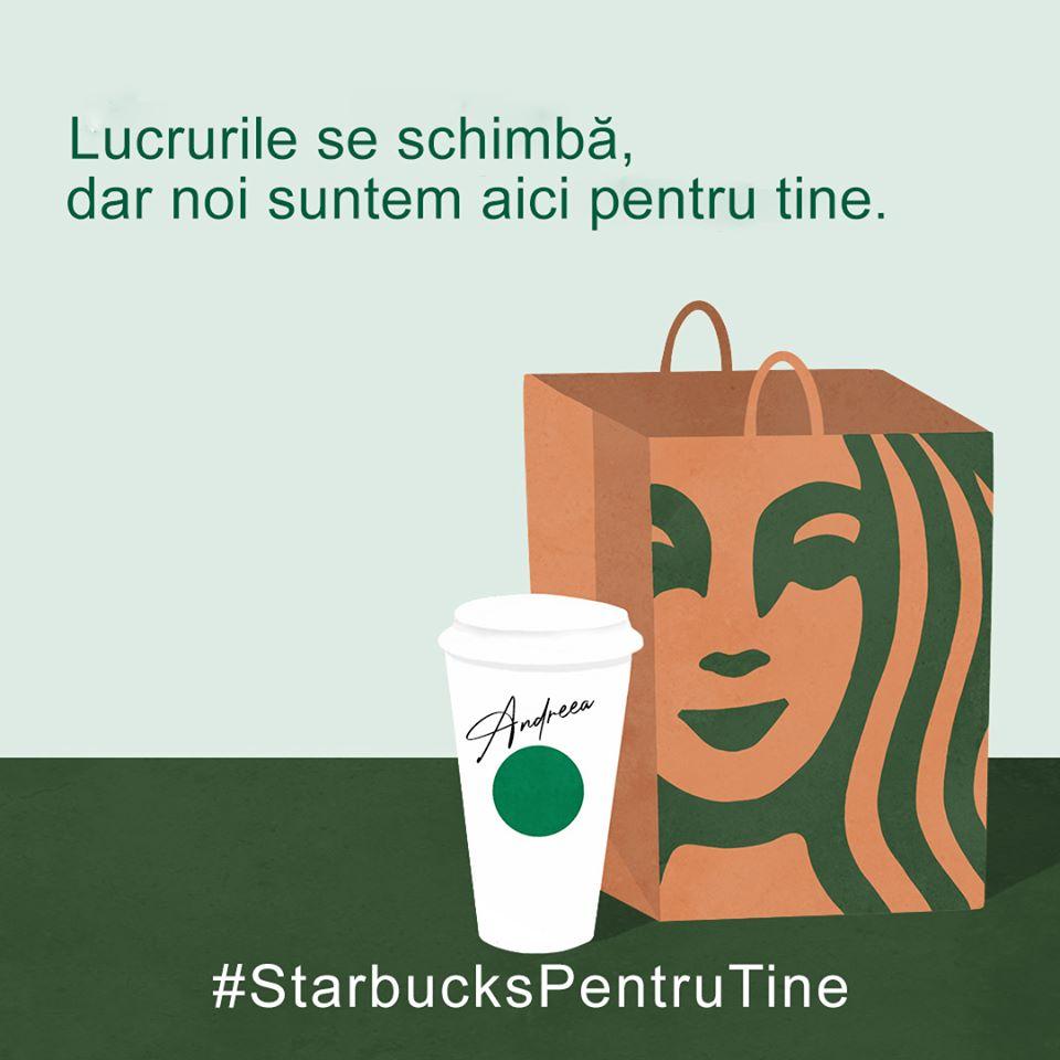 [Dă binele mai departe] Starbucks oferă gratuit în București cafea eroilor acestor zile