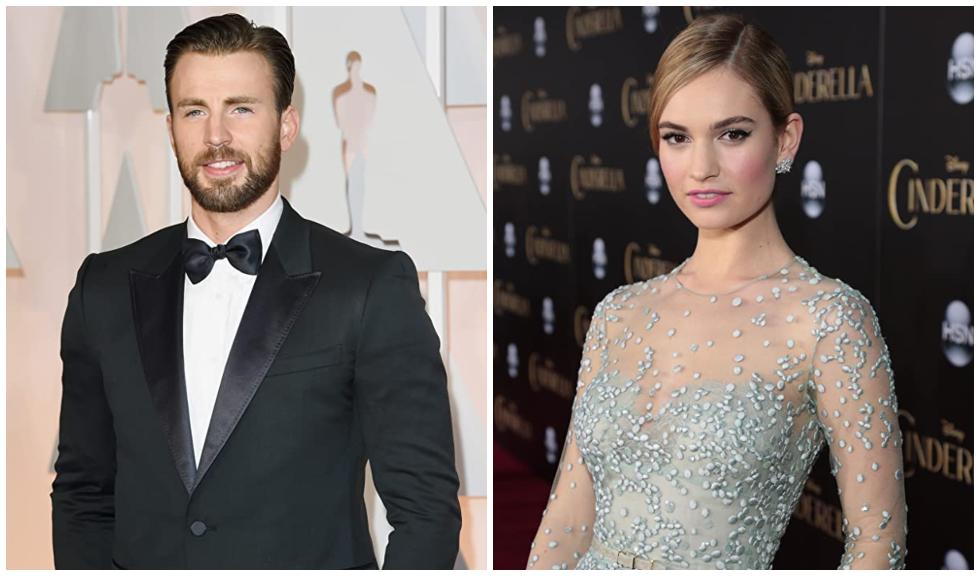 Chris Evans și Lily James, noul cuplu de la Hollywood?