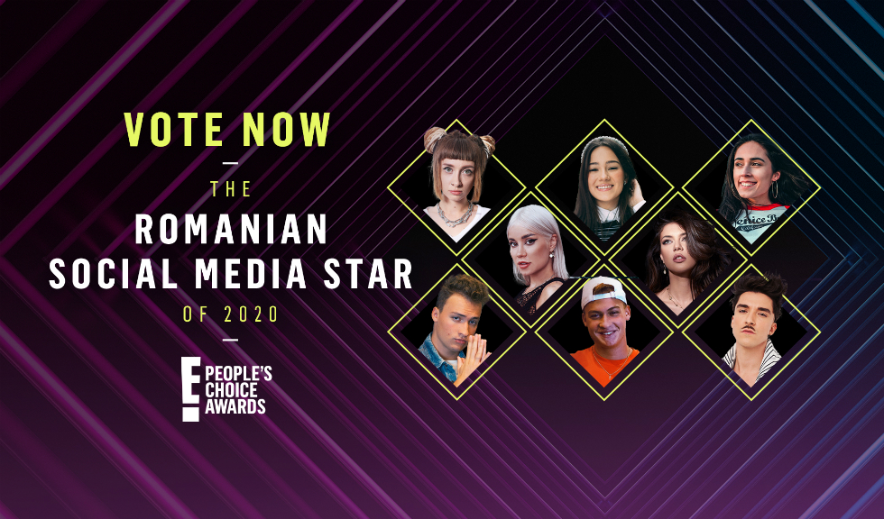 "Cine va câștiga titlul de ""Romanian Social Media Star of 2020"" la ediția de anul acesta a E! People's Choice Awards?"