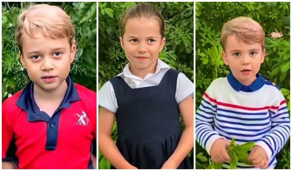 Prințul George, Prințesa Charlotte și Prințul Louis sunt protagoniștii unor noi fotografii adorabile