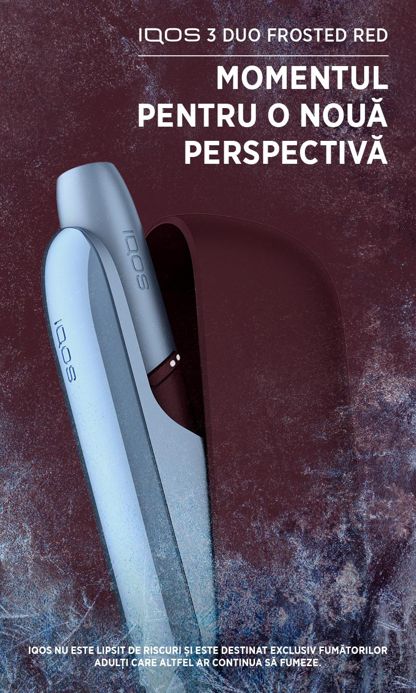 (P) IQOS lansează un nou dispozitiv în ediție limitată, IQOS 3 DUO Frosted Red