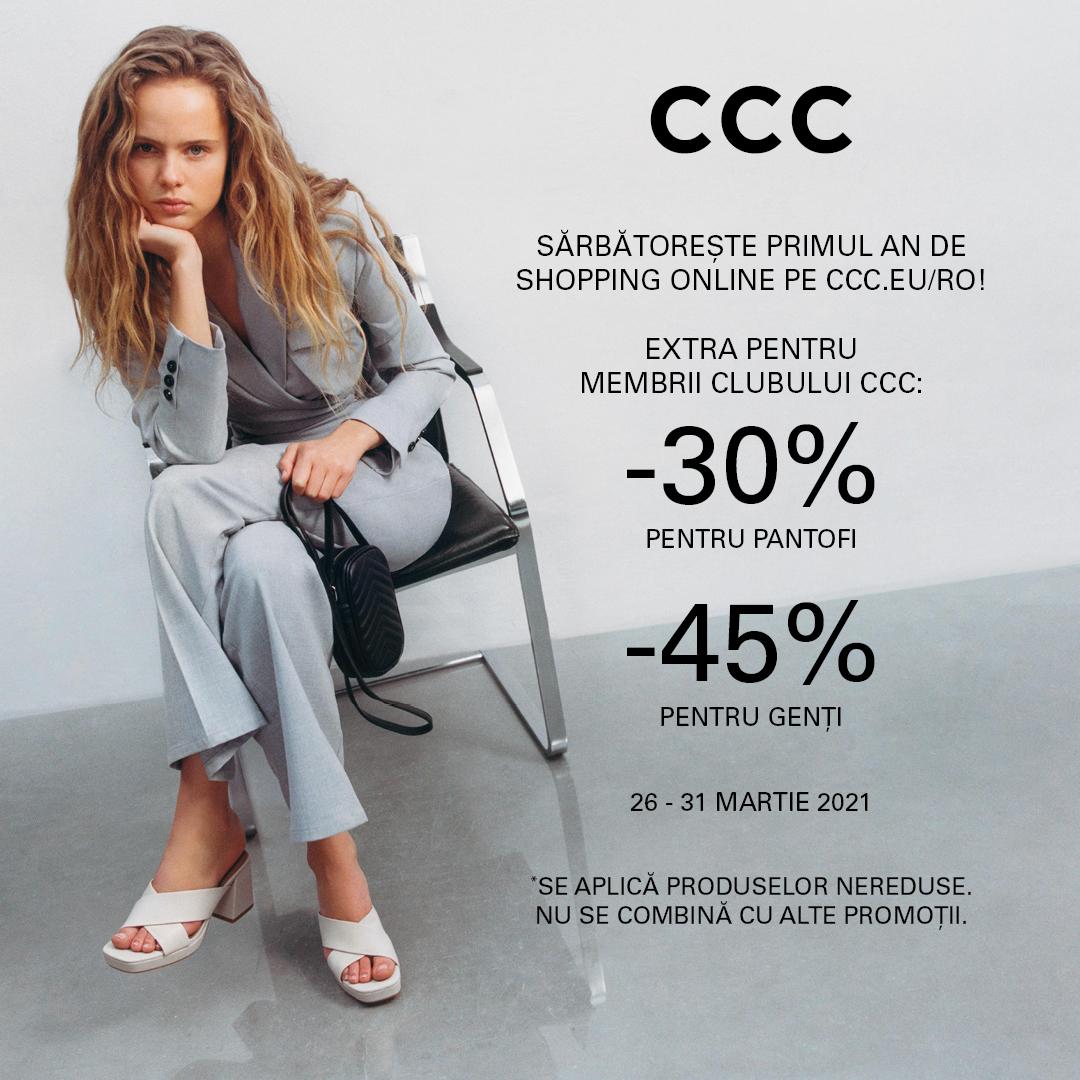 (P) CCC România aniversează primul an de shopping online pe piața locală