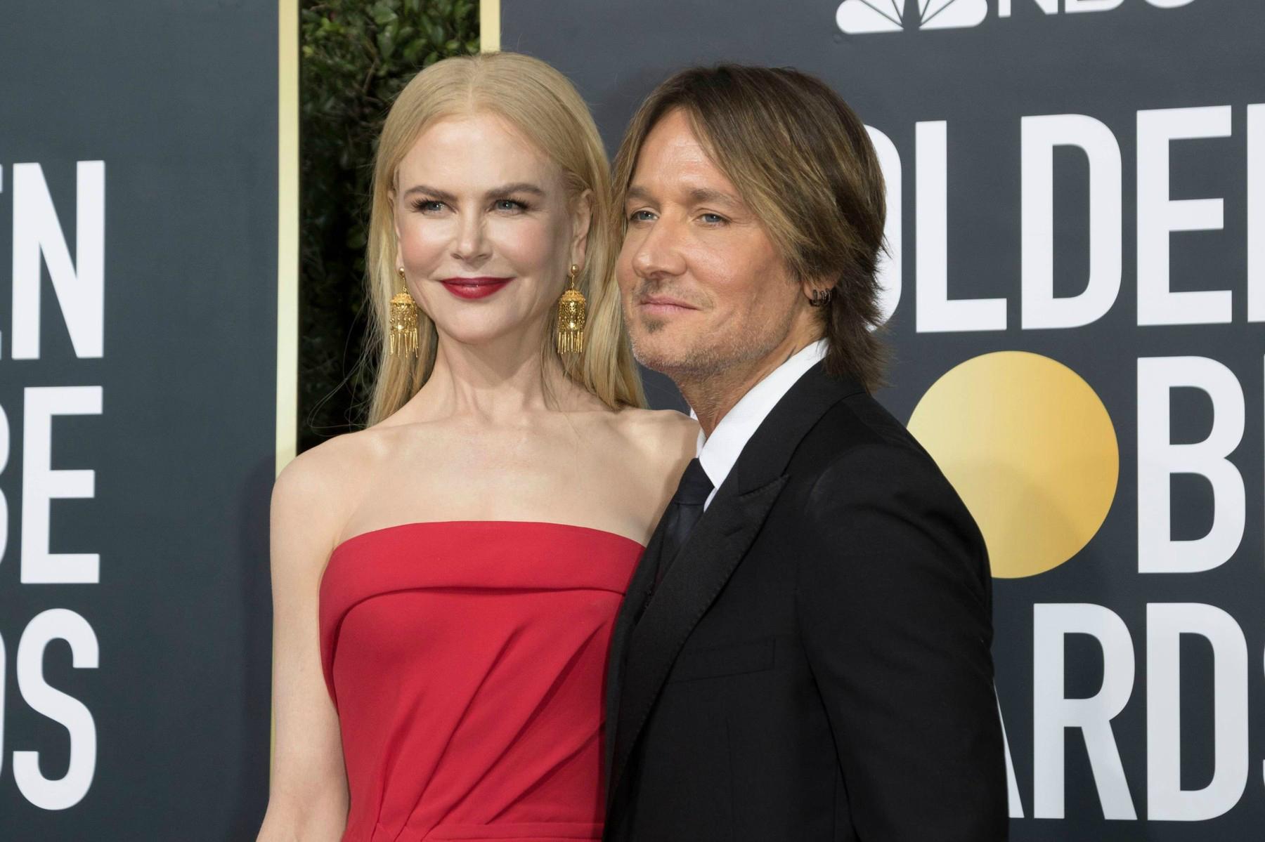 Nicole Kidman și Keith Urban, apariție inedită alături de fetițele lor la Globurile de Aur 2021