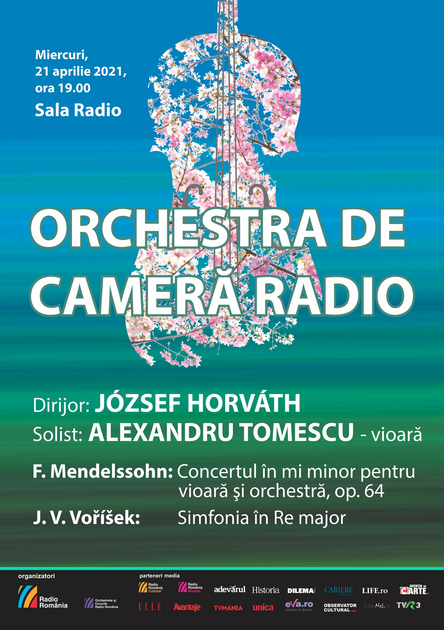 (P) ALEXANDRU TOMESCU va cânta MENDELSSOHN pe vioară STRADIVARIUS Elder-Voicu,  concert transmis LIVE de la SALA RADIO