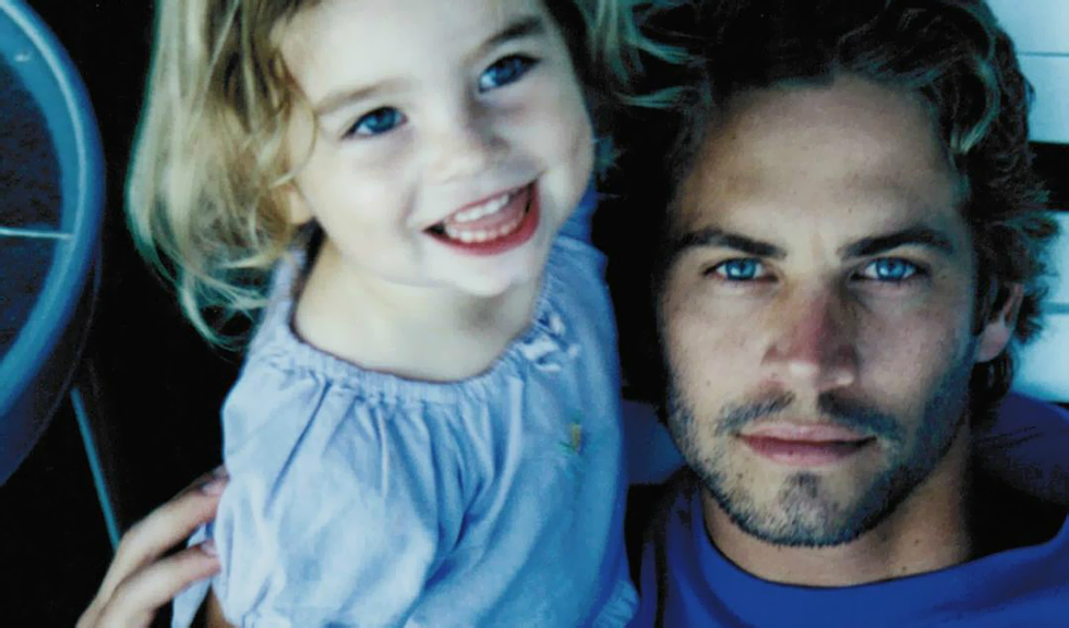 Fiica lui Paul Walker se simte ca-n familie alături de Vin Diesel, iar această imagine este dovada