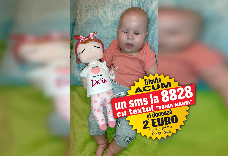 Daria-Maria, fetița care s-a născut fără ochi, a plecat în Turcia pentru investigații. Bebelușul de numai opt luni are nevoie de peste 4.000 de euro doar pentru această etapă a tratamentului